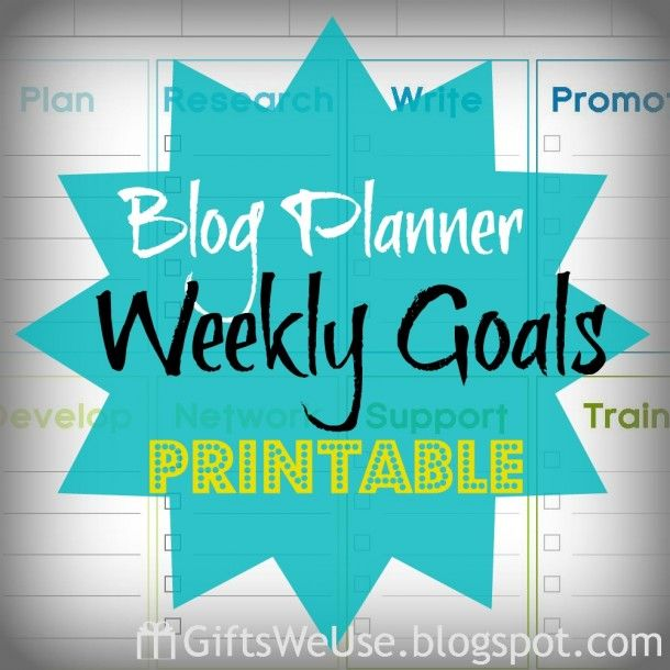 Free Blogging Planner - The SITS Girls