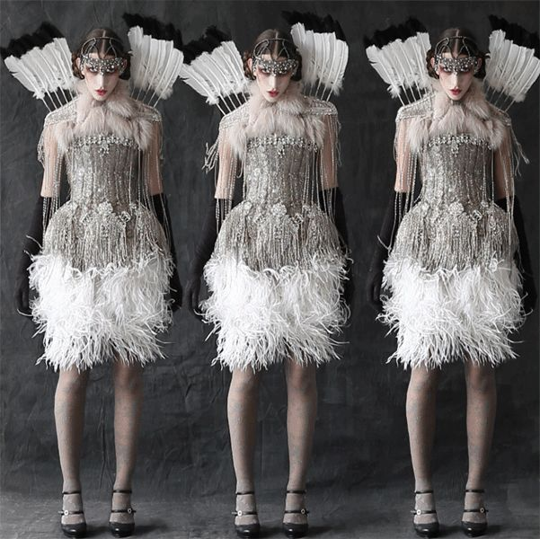 feathers / headdress / metallic // Freak Show by Reed + Rader