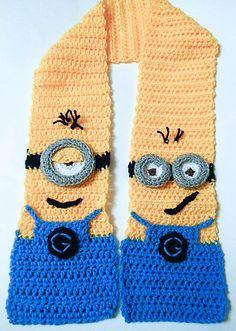 Minion Scarf: #crochet #Minion pattern for sale