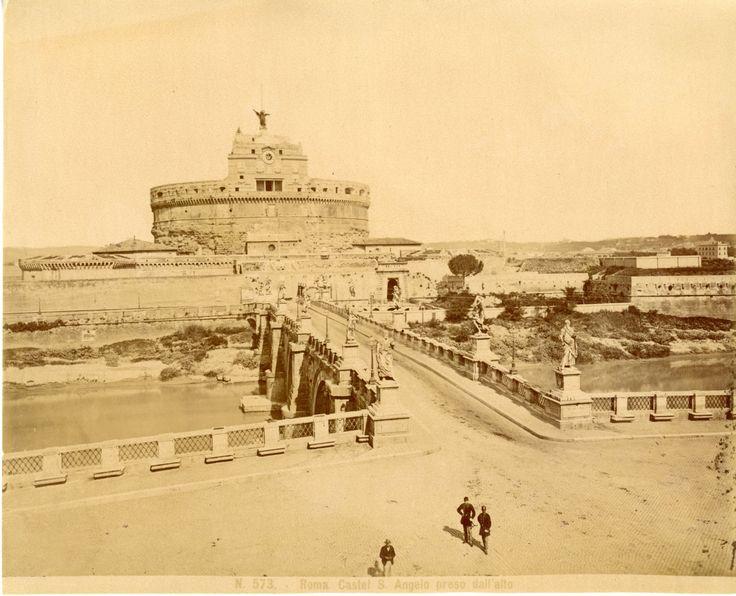 Italie, Roma, Castello di S. Angelo Vintage albumen print Tirage albuminé 20x25 Circa 1875