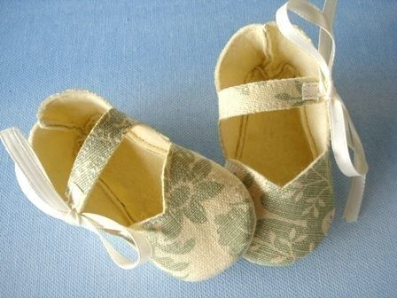 Mary Jane Sewing Pattern - Simple Mary Jane Baby Shoes - Booties with Ribbon Ties PDF ePattern. $3.99, via Etsy.