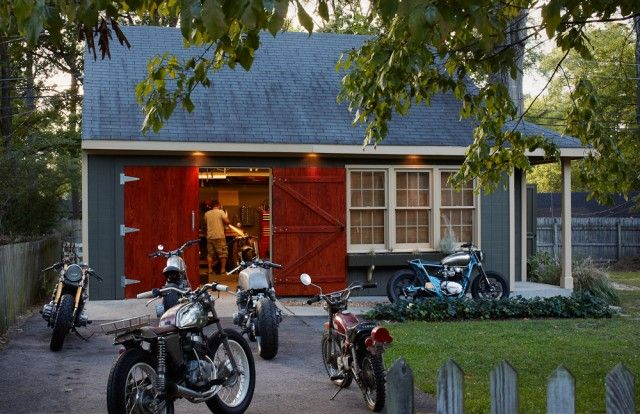 Garage Design Motorcycle : Best images about motorcycle shop on pinterest why