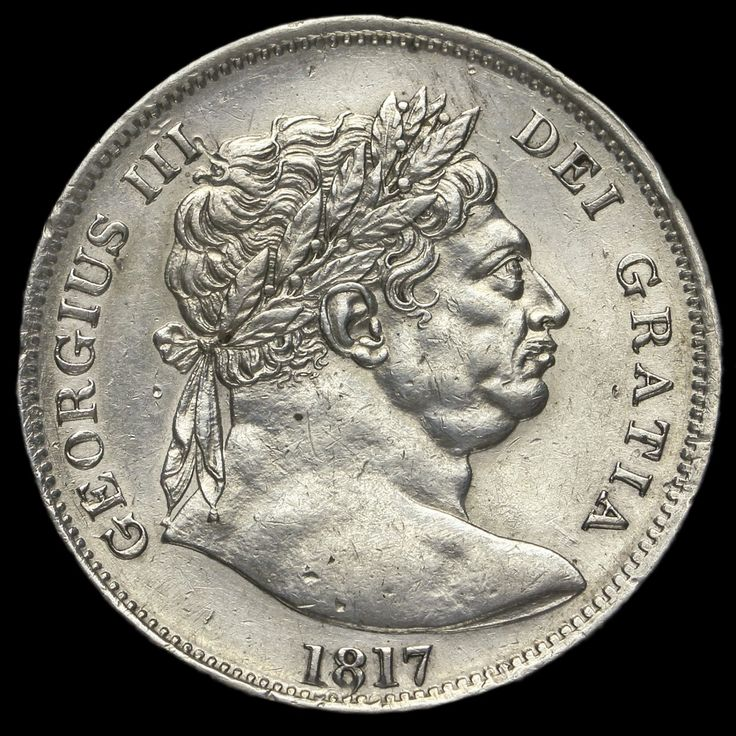 1817 George III Milled Silver 'Bull Head' Half Crown, Unrecorded Overstrike