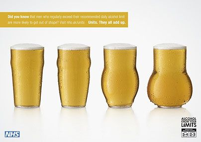 NHS. Alcohol, Know Your Limits. Ads
