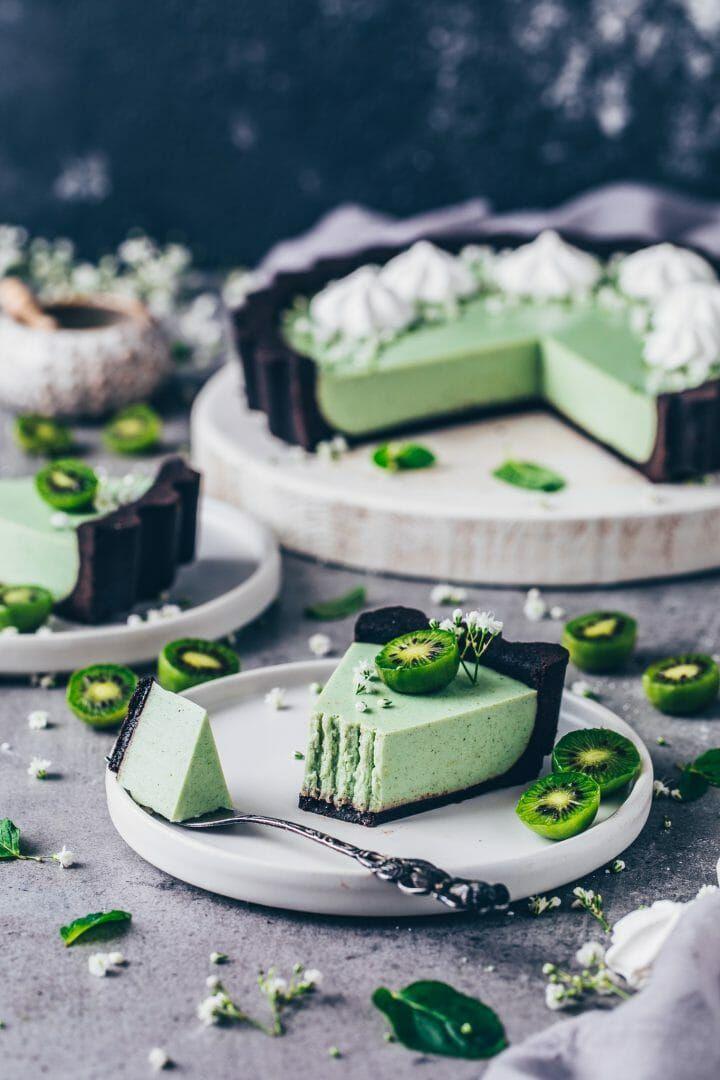 Matcha Käsekuchen Oreo Puddingkuchen   Vegan – Bianca Zapatka   Rezepte   – Vegan Sweets