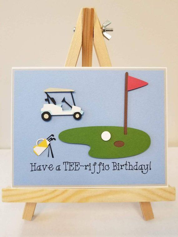 Handmade Golf Card Golfing Theme Card Happy Birthday Card Golf Birthday Card Terrific Birthday Card Fun Card Golf Birthday Cards Quilling Birthday Cards Happy Birthday Cards