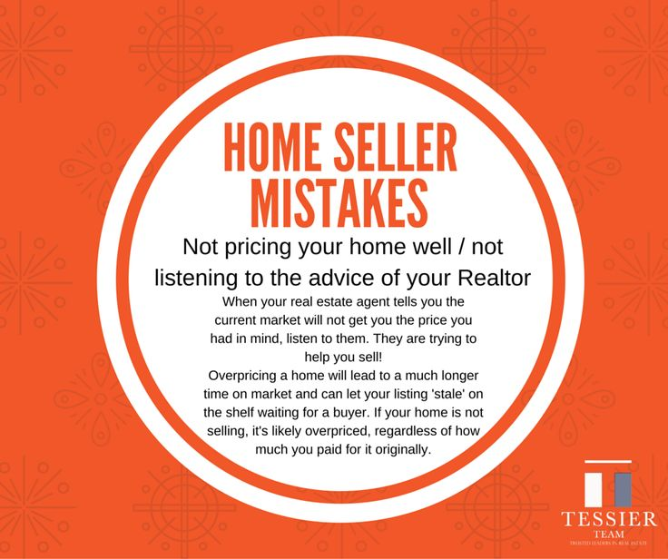 #homeseller mistake Listen to your #realestate professional on how to price your home. Overpricing your home can lead to it growing stale and staying on the market for a long time.