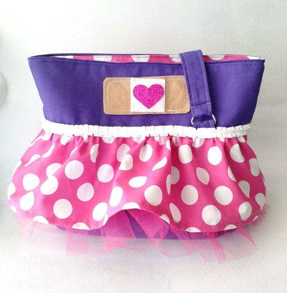 Doc McStuffins Inspired Handbag w/Name Embroidery