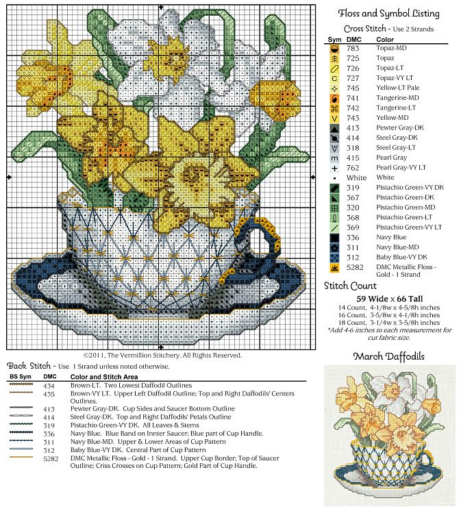 Cross-stitch Pretty Flowers...   Gallery.ru / Photo # 11 - 12 in cups - irisha-ira