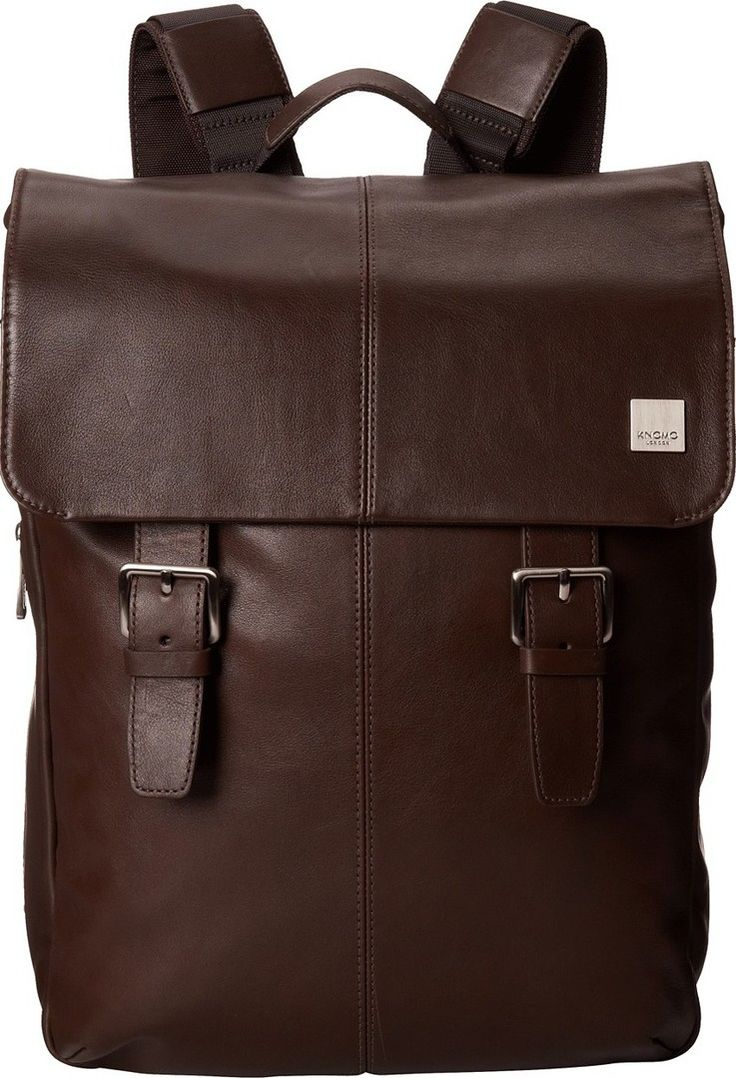 Мужской рюкзак Knomo London Hudson Leather Laptop Backpack