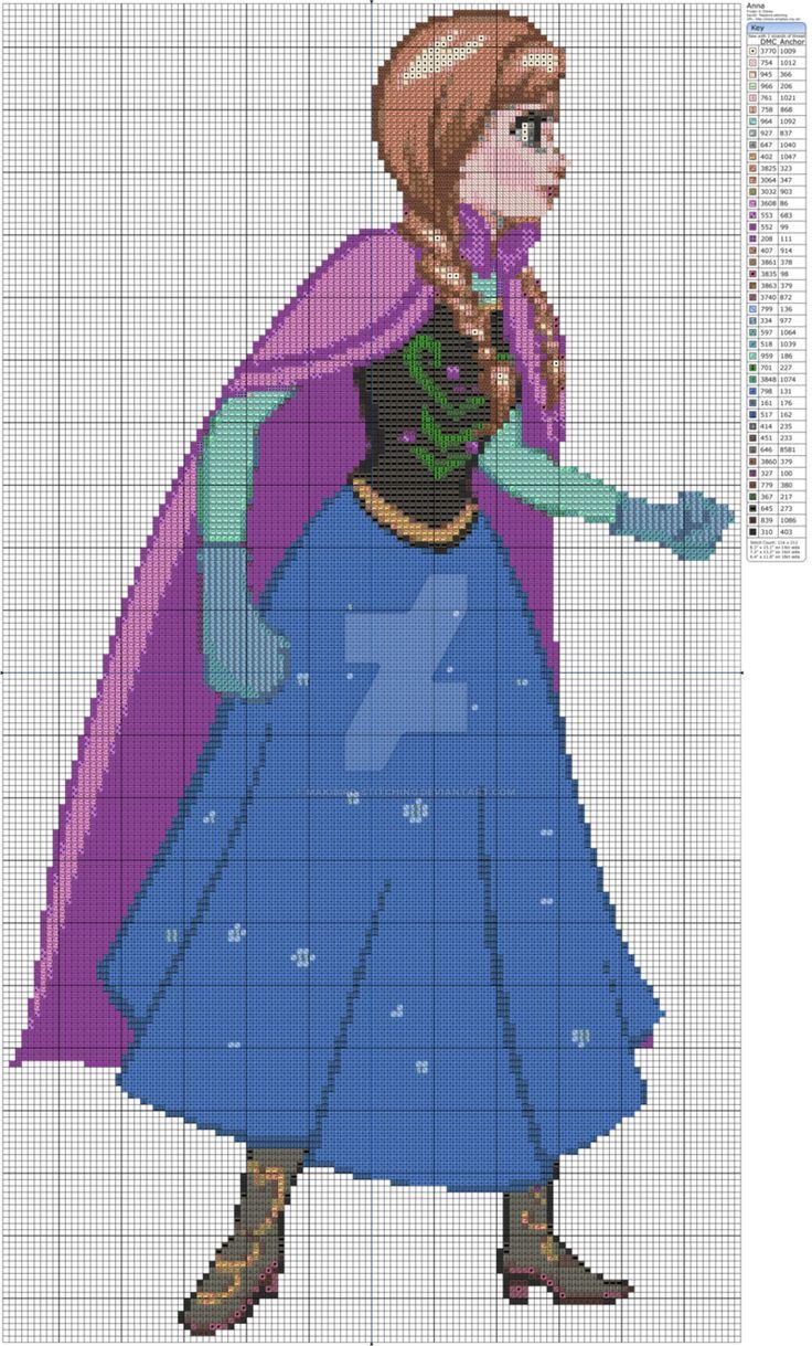 356 besten Borduren en haken : thema Frozen Bilder auf Pinterest ...