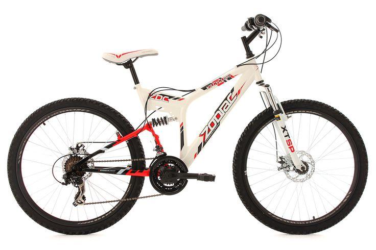 Mountainbike MTB Fully 26 Zodiac weiß mech. Scheibenbremse RH 48 cm KS Cycling
