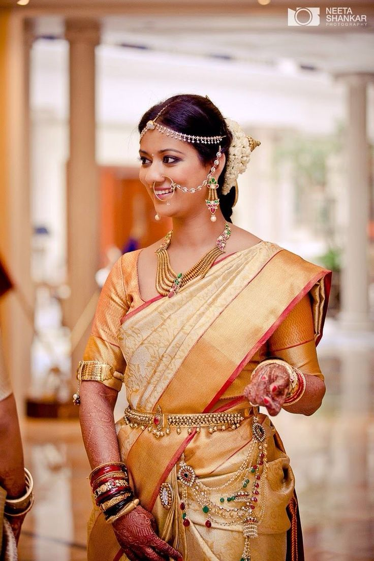Varsha on the morning if her wedding. Hair and makeup by