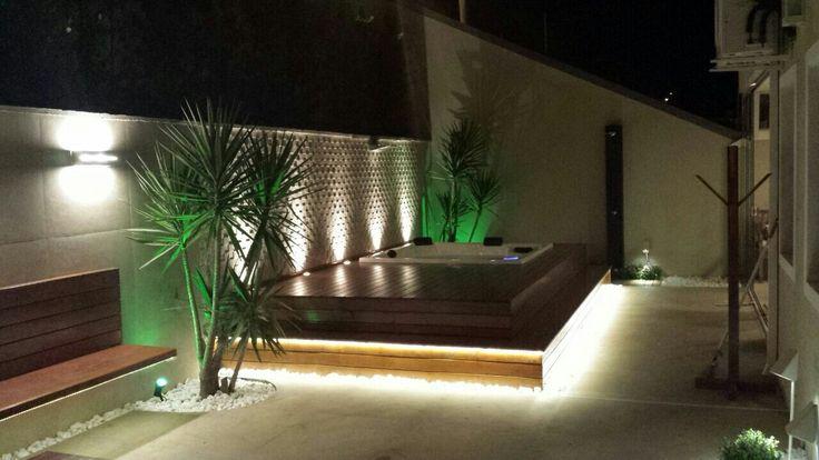 Spa com iluminação de led