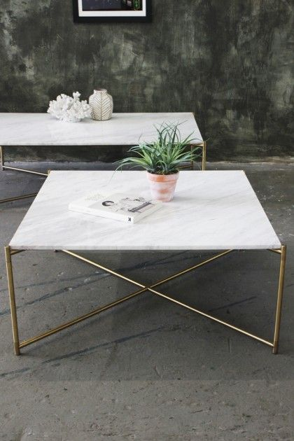 Carrara Marble Coffee Table - Square White