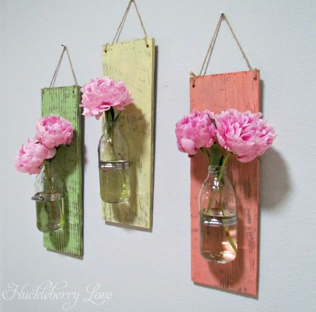 DIY Glass Bottle Wall Sconces