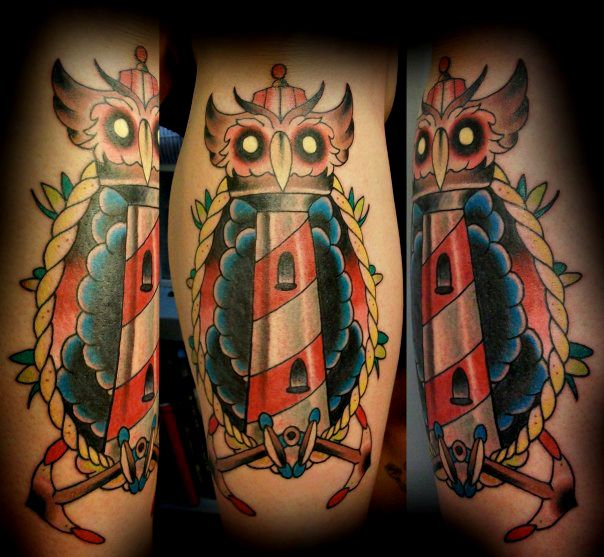 75 best tattoo traditional lighthouse images on pinterest for Tattoos on old skin