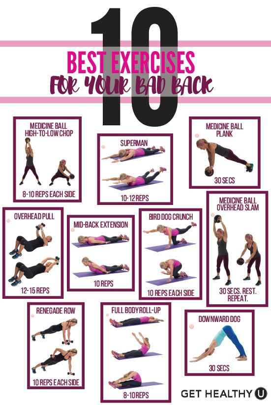 Check out this blog about the 10 best exercises for your bad back! If you experience back pain, it can be a total drag. These moves will help alleviate that pain and burn some calories at the same time!