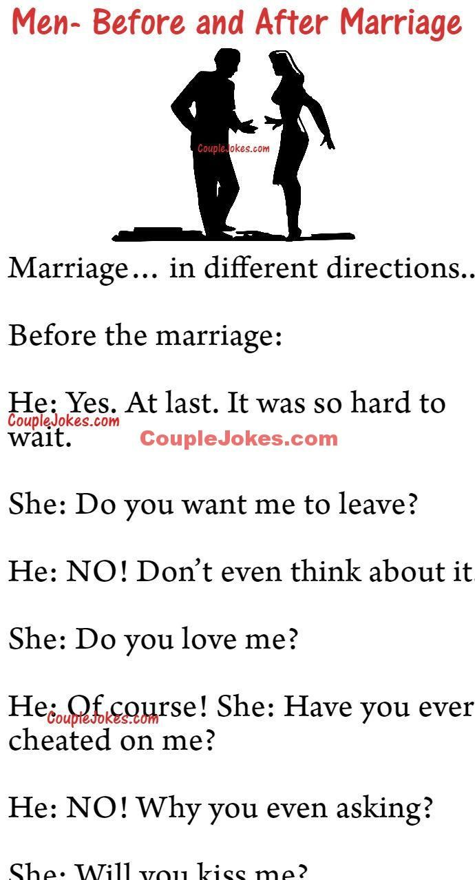 Your Life Before And After Marriage Before And After Marriage Funny Marriage Jokes