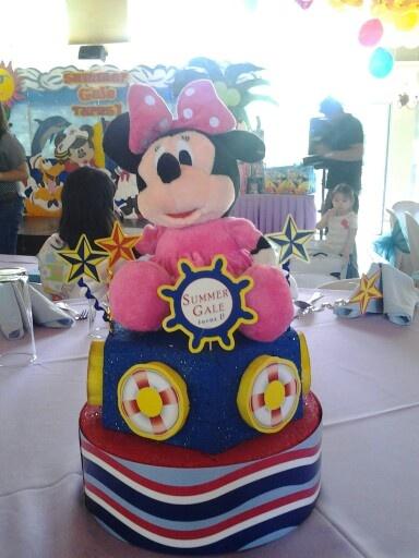 Minnie Mouse Nautical Table Centerpiece