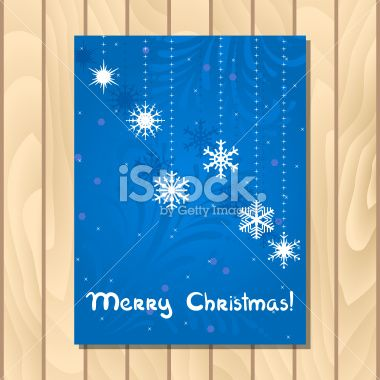 Vector christmas greeting card. Royalty Free Stock Vector Art Illustration