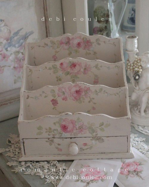 Shabby Romantic Vintage Style Letter Holder - Debi Coules Romantic Art  Debi Coules  Pinterest ...