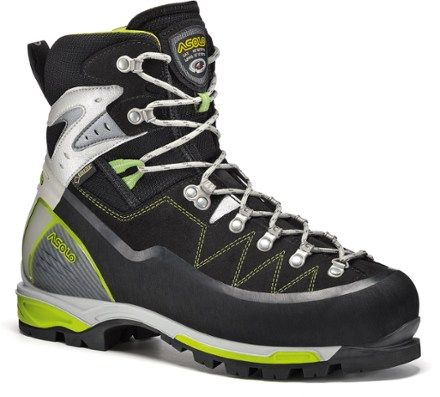 Asolo Women's Alta Via GTX Mountaineering Boots Black/Green 10.5
