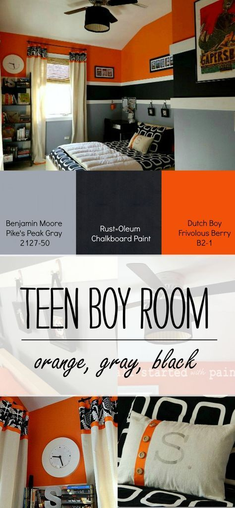 bedroom ideas teenage guys. Teen Boy Bedroom Idea in Orange  gray black Best 25 boy bedrooms ideas on Pinterest rooms
