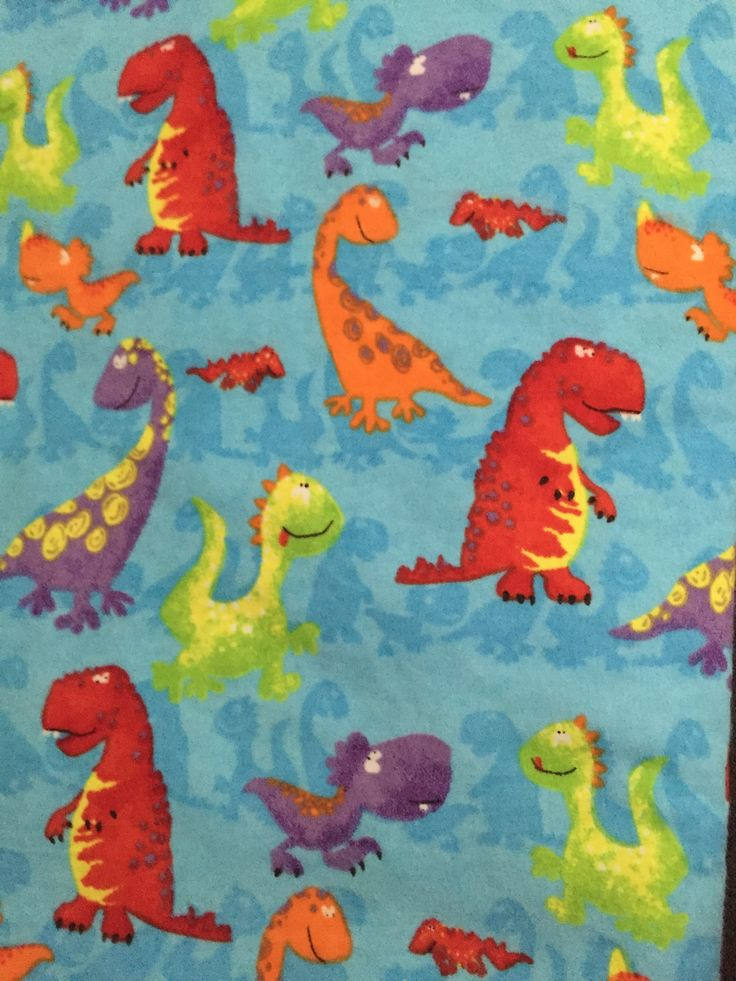 "Dinosaur toddler sheet set in flannel with two pillowcases measuring 19"" X 12"" each. Includes fitted bottom sheet and top sheet. Toddler sheets fit crib mattresses, but do not fit youth beds. 