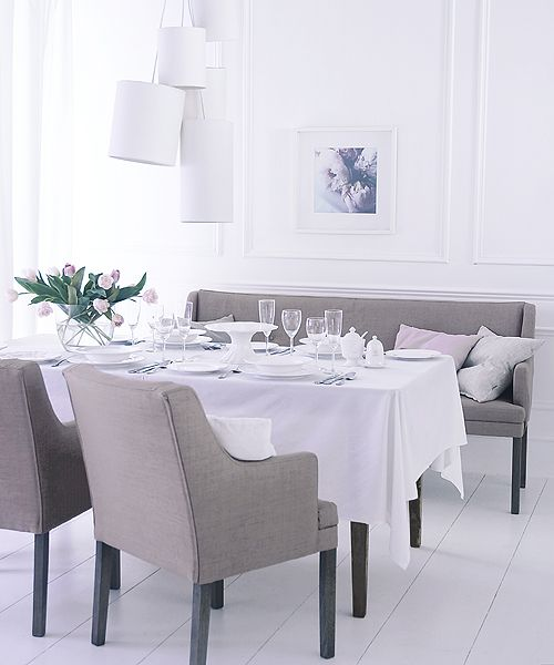 Soho Loft buttoned linen banquette seats in a choice of eight colours