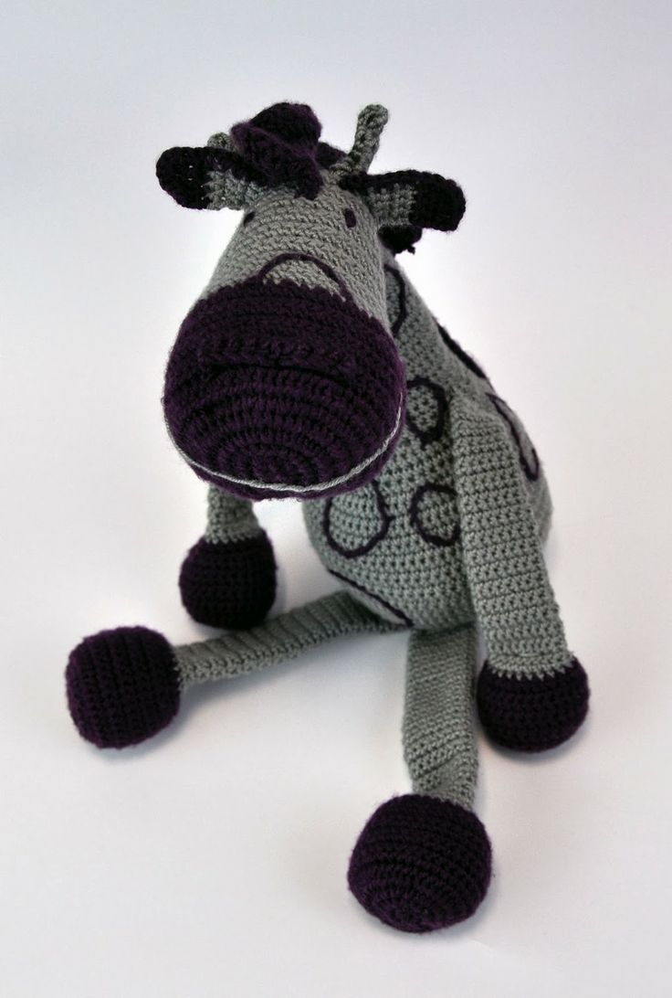 handmade,DIY toy - crochet giraffe