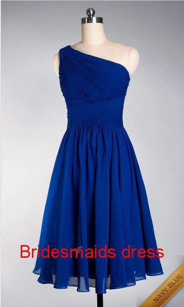 One shoulder Bridesmaid Dress 2013,One shoulder Pleated chiffon Bridesmaid Dress 2013