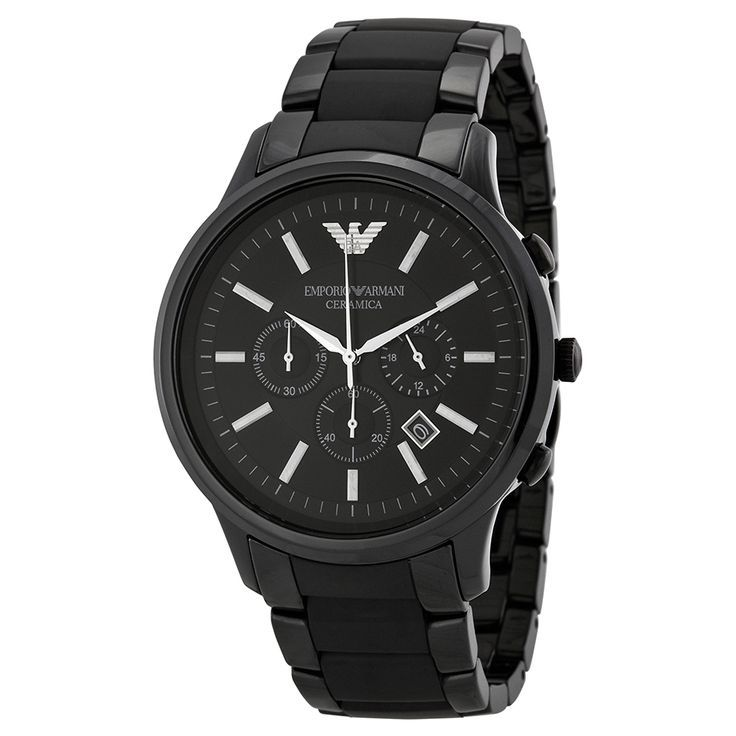 Armani Ceramica Chronograph Black Dial Black Ceramic Men's Watch AR1451 - Emporio Armani - Shop Watches by Brand - Jomashop