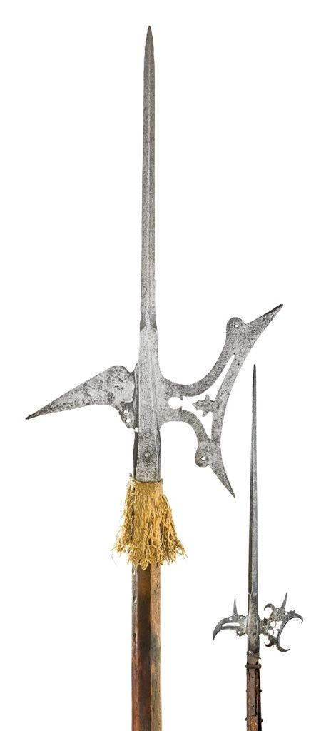 Two German halberds. Late 16th early 17th century.