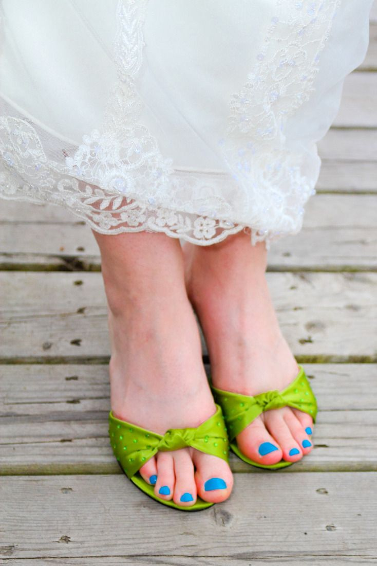 Blue Toe Nail Polish for something blue ©Alicia Robichaud Photography www.arfoto.ca