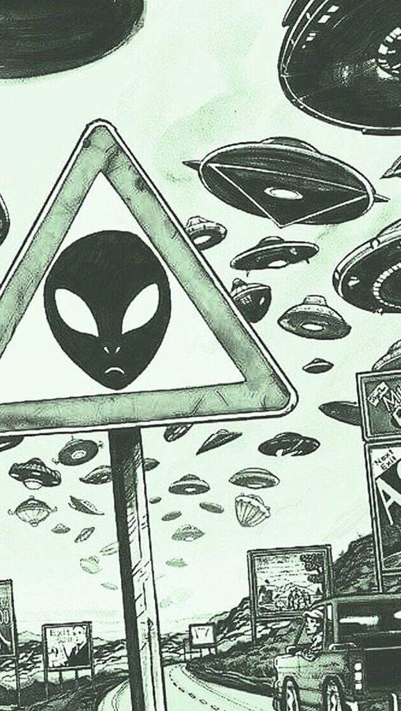 alien background ✧ BY: homescreens on tumblr