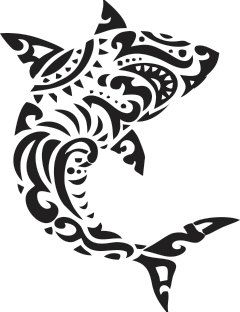 Tribal Shark  Vinyl Wall Decal by WallJems on Etsy.