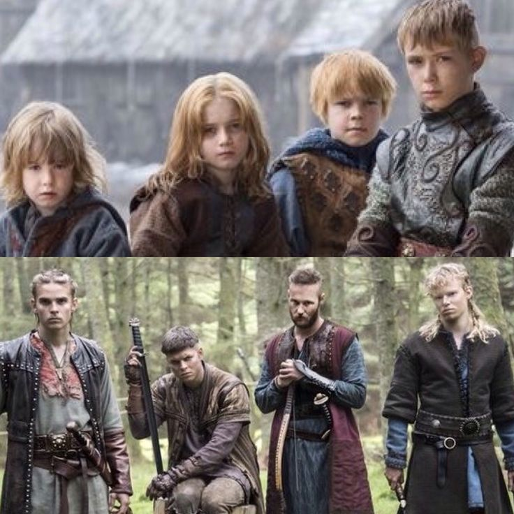 Viking Ragnar's youngest sons which is also the famous bjorn ironside's half brothers, protrayed in History's Vikings:  Ivar, sigard, hvirserk and ubbe (top)  Hvirtserk, ivar, ubbe and sigard (bottom)