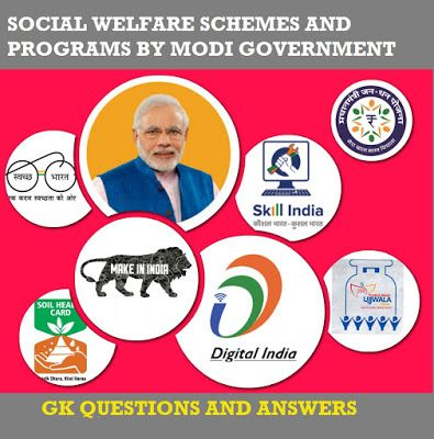 Modi Government Schemes and Programs-GK Questions and Answers - PSC WINNER