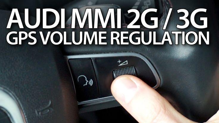 How to adjust #GPS #navigation volume in #Audi #MMI 2G & 3G #A4 #A5 #A6 #A7 #A8 #Q3 #Q5 #Q7 #cars