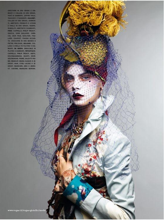 """Never Without My Hat..."" | Model: Cara Delevingne, Photographer: Sathoshi Saïkusa, Vogue Italia, March 2011 / i love her"