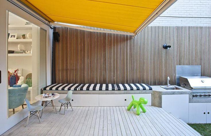 Luigi Rosselli designed Alfresco awning