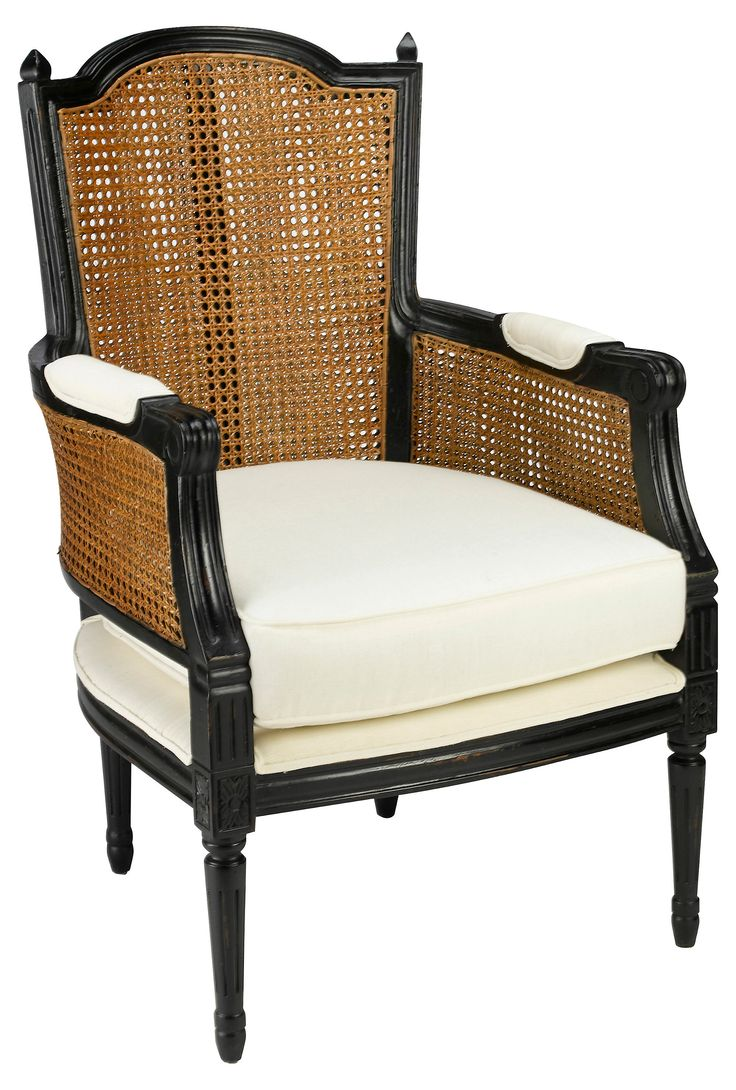 Angus accent arm chair brown buy seating living room store - With Its Carved Mahogany Frame And Double Caned Back And Sides This Armchair Wears
