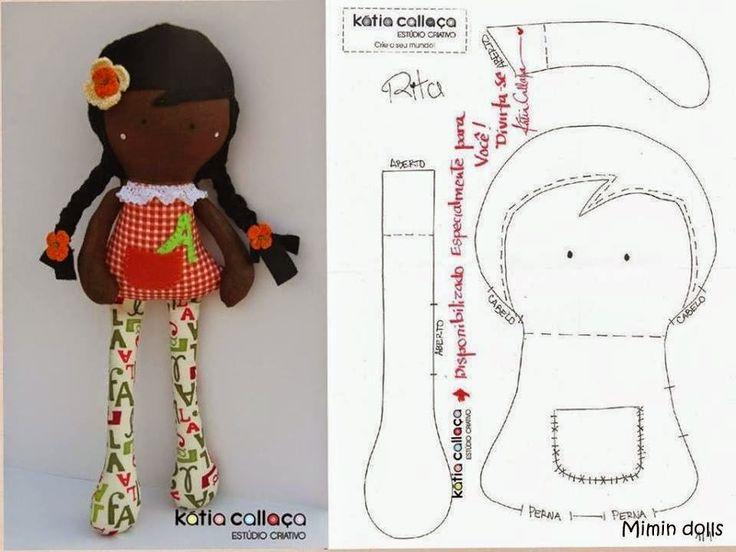 Hoje tive uma bela surpresa de manhã da nossa amiga Kátia Callaça do Estúdio Criativo . Ela nos disponibilizou o molde da sua Rita. ...