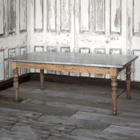 Park Hill Collection Zinc Top Farm Table - HL1001