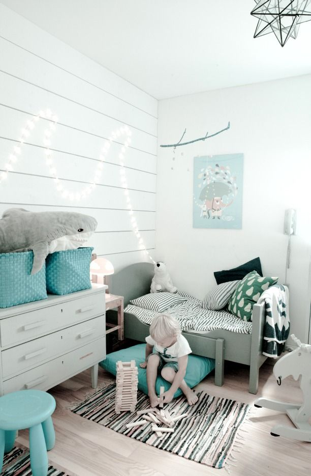 blue - white - grey. I have a shark like that in my room too. :D I will never grow up :D