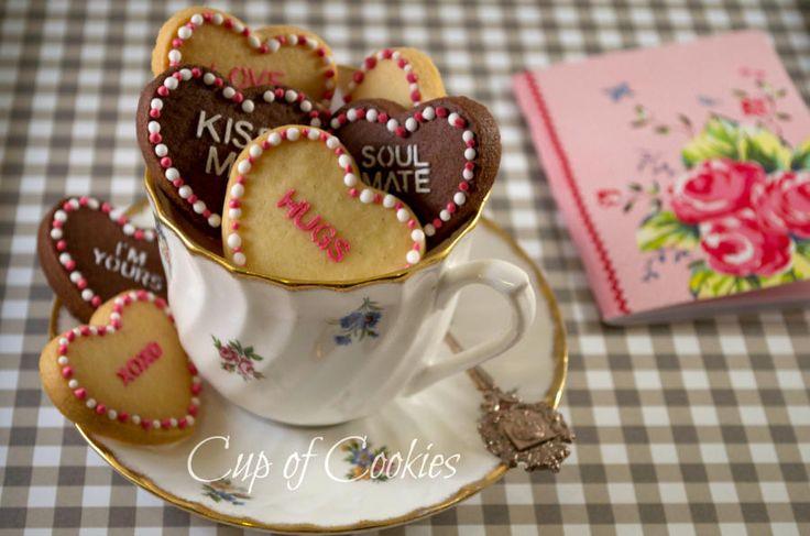 Valentine Cookies - by Cup of Cookies