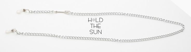 LA FLECHE • Sunglasses chain in silver with metallic silver arrow. • Inspired by all the moments we were feeling lost. • Attachments are adjustable to fit any size eyewear frame by sliding the metal spring up & down.  #holdthesun #sumglasses #sunglasseschain #sunglassesstrap #fashion #sun #greece