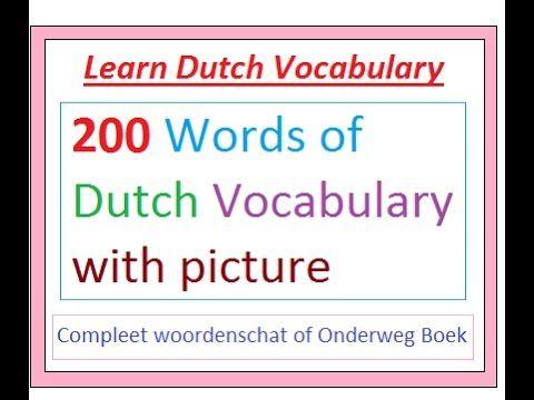 Snel Nederlands Leren (woordenschat)    Learn Dutch Vocabulary