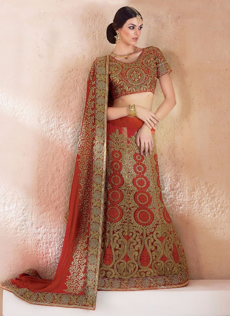 Maroon Heavy Embroidery Work A Line Lehenga For Wedding Wear